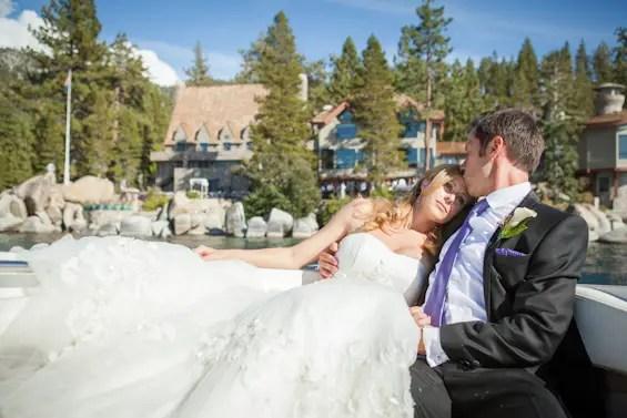 Johnstone Studios - lake tahoe wedding - bride resting on grooms shoulder