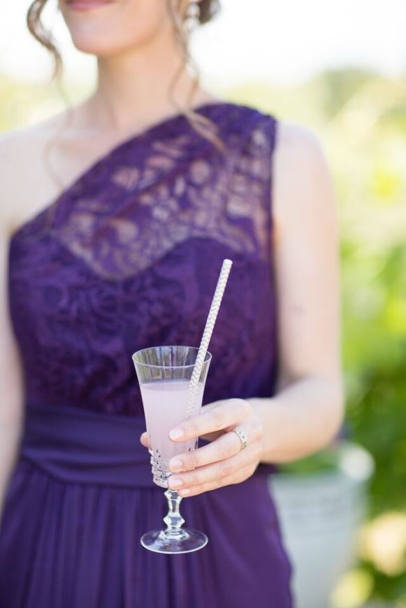 Maid of Honor Holding Lemonade