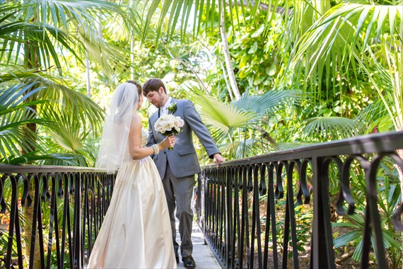 Filda Konec Photography - Hemingway House Wedding - bride and groom before key west wedding