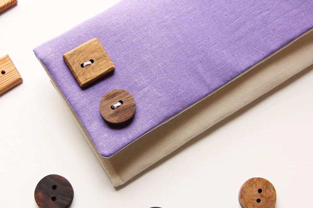 Pale purple fold over clutch purse