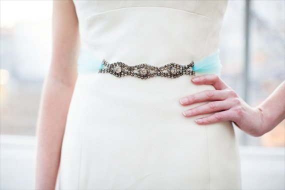 Something Blue Dress Sash - The Ritzy Rose