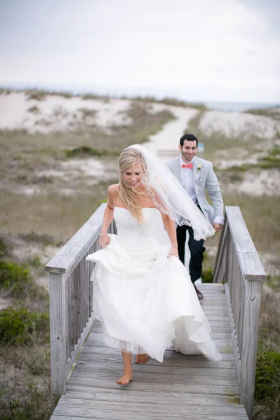 The Bride and Groom - Portraits - 17 - Bald Head Island Wedding - Photo by Eric Boneske