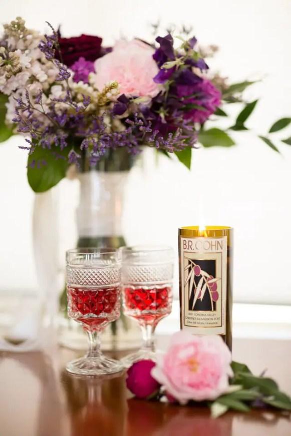 Winery Styled Wedding Shoot - Wine Bottle and Glassware