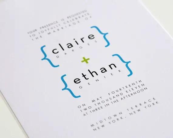 addition of love modern wedding invitations