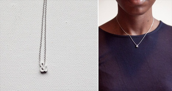 ampersand layering necklace via How to Layer Necklaces