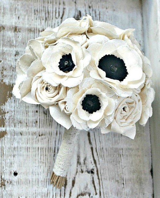 Anemone Wedding Bouquet That Lasts Forever