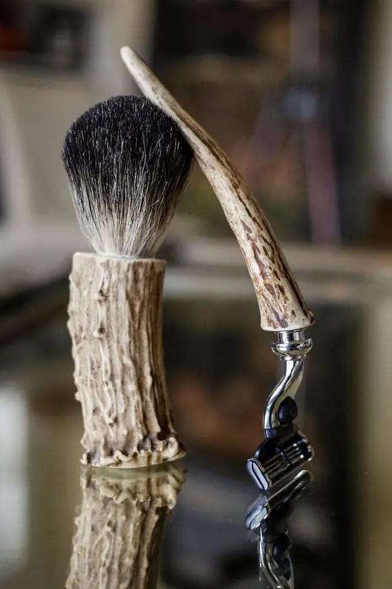 20 Valentines Day Gift Ideas - antler badger hair shaving kit the dapper fox