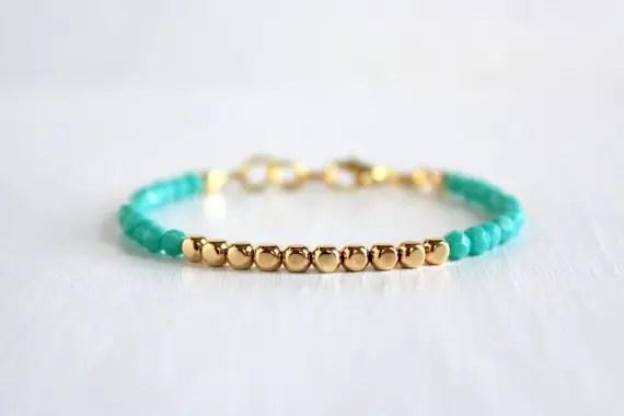 aquamarine stacked bracelet | via Best Aquamarine Jewelry Finds on Etsy - http://emmalinebride.com/bride/best-aquamarine-jewelry/