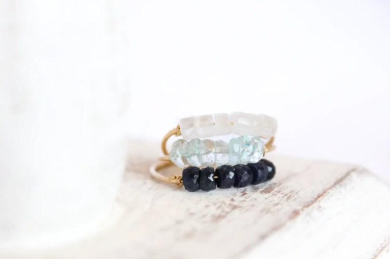 aquamarine stacking ring | via Best Aquamarine Jewelry Finds on Etsy - http://emmalinebride.com/bride/best-aquamarine-jewelry/