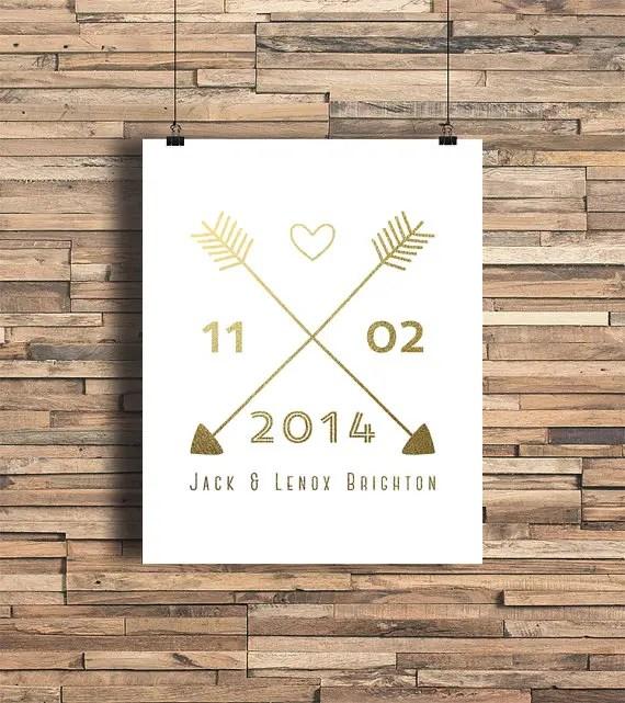 arrow wedding print