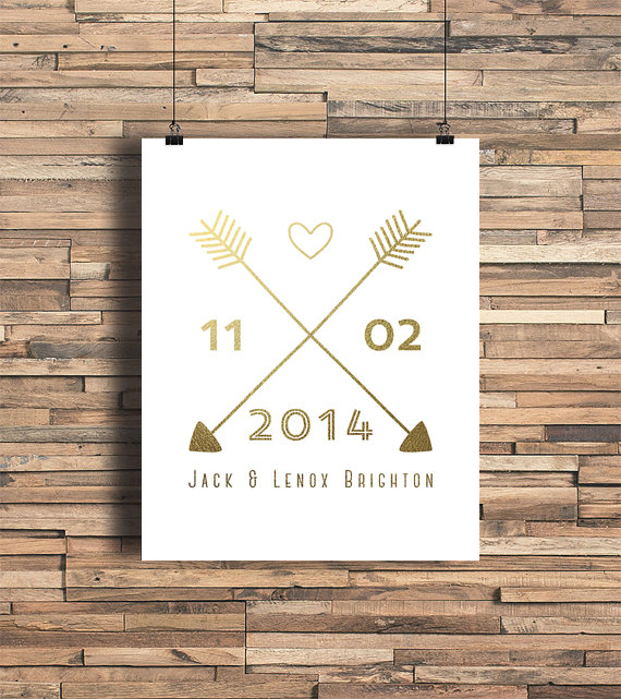 arrow wedding print
