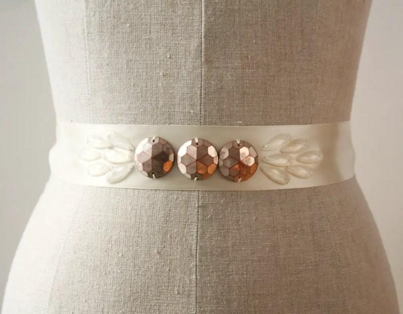 Art Deco Wedding Gowns: Wedding Dress Sash Ideas