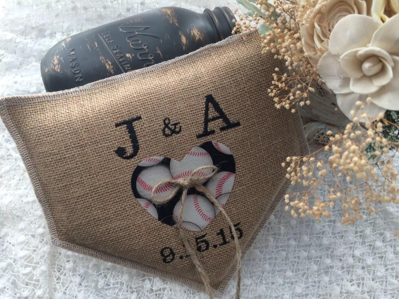 baseball ring pillow blessed in love