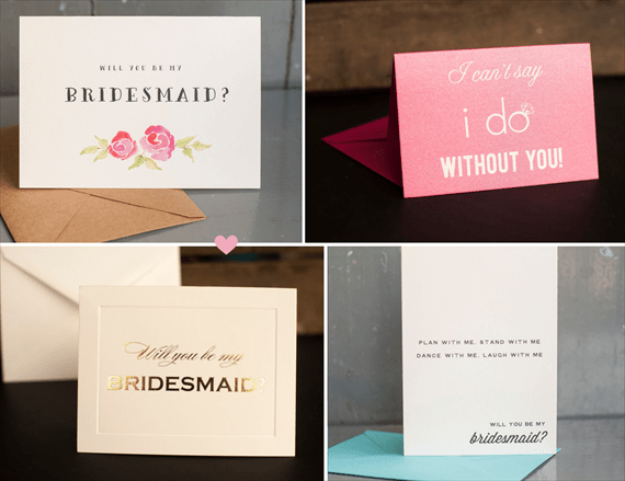 Be My Bridesmaid?  6 Creative Ways to Say It - cards: starboard press