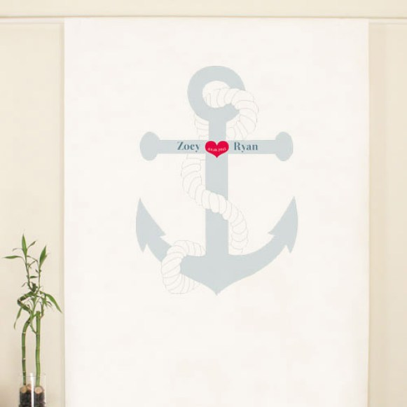 beach anchor photo backdrop