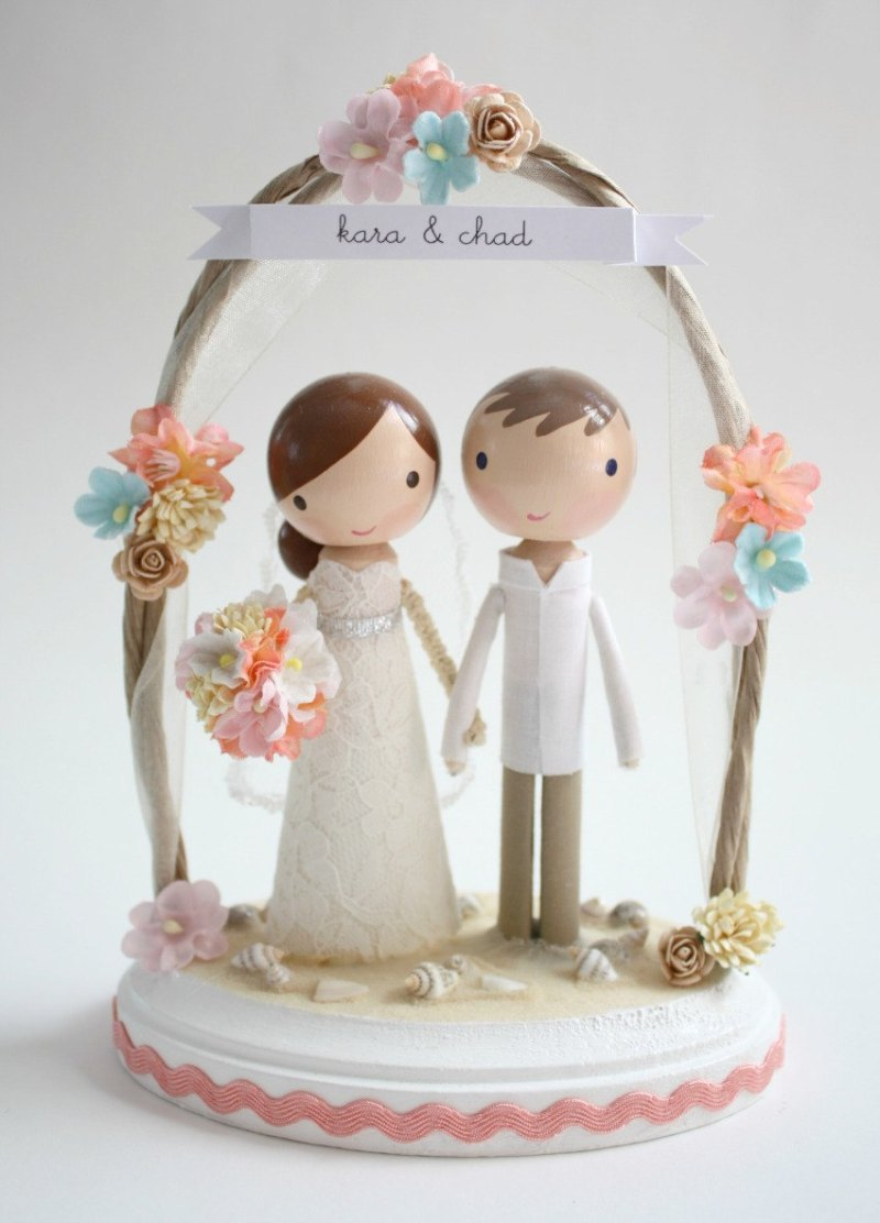 beachy wedding cake toppers cake topper styles for unique couples emmaline 11198
