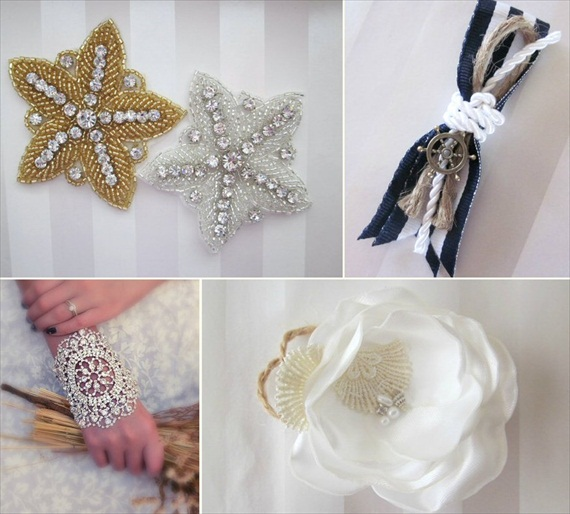 Beach Wedding Accessories (by All for Love, L.O.V.E. via EmmalineBride.com) #handmade #wedding #accessories #beach