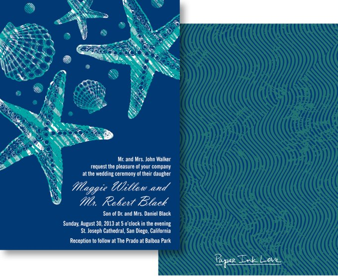 beach printables - for when you need wedding invitations fast