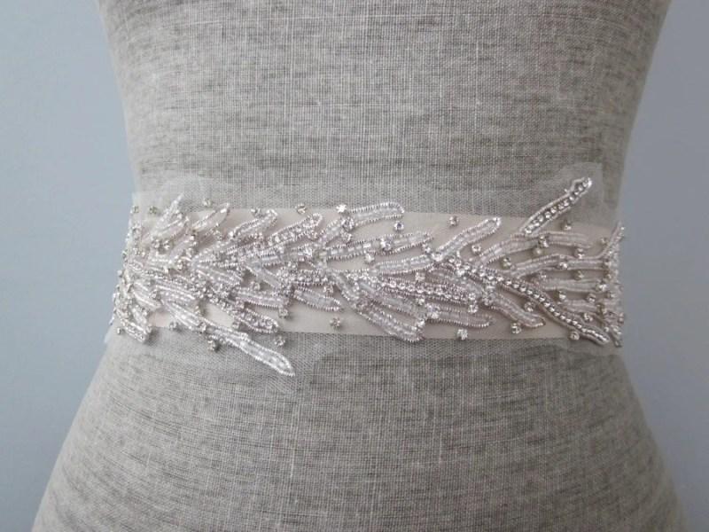 Beach Wedding Dress Sash | Sash Belt for Beach Bride http://emmalinebride.com/planning/beach-wedding-dress-sash/