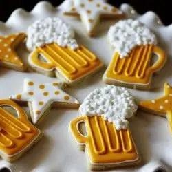 beer foam cookies
