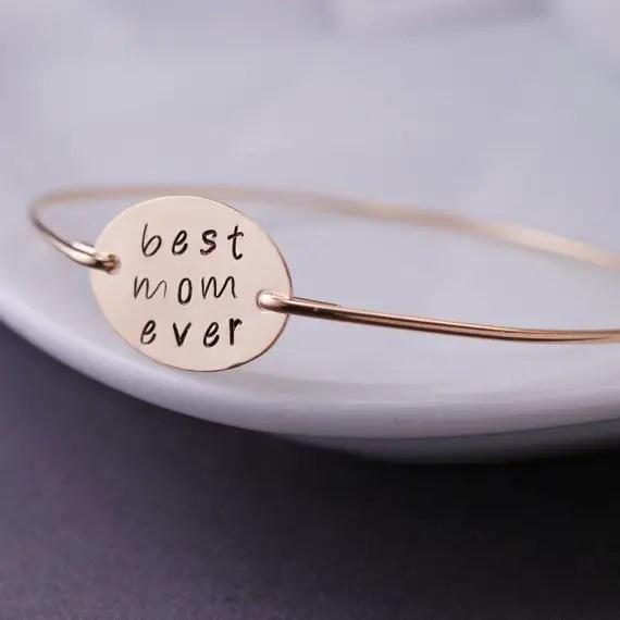 Wedding Jewelry for Mom - best mom ever bracelet (by georgie designs)