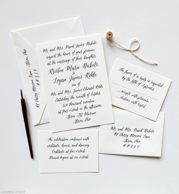 Matchy Matchy Letterpress Invite And Handmade Envelope: The Handmade Wedding Blog