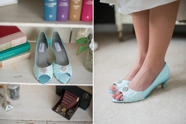 blue lace heels