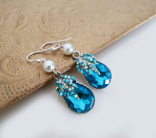 blue teardrop earrings2