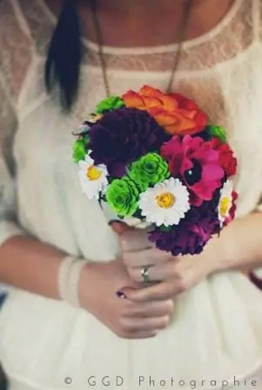 boho wedding paper bouquet