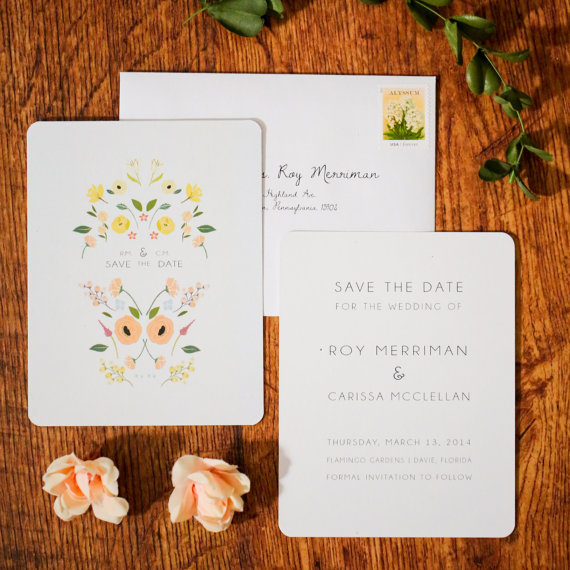 boho chic folk wedding invitations