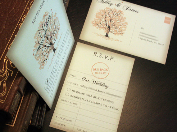 Custom Made Wedding Invitations: Book Inspired Wedding Invitations