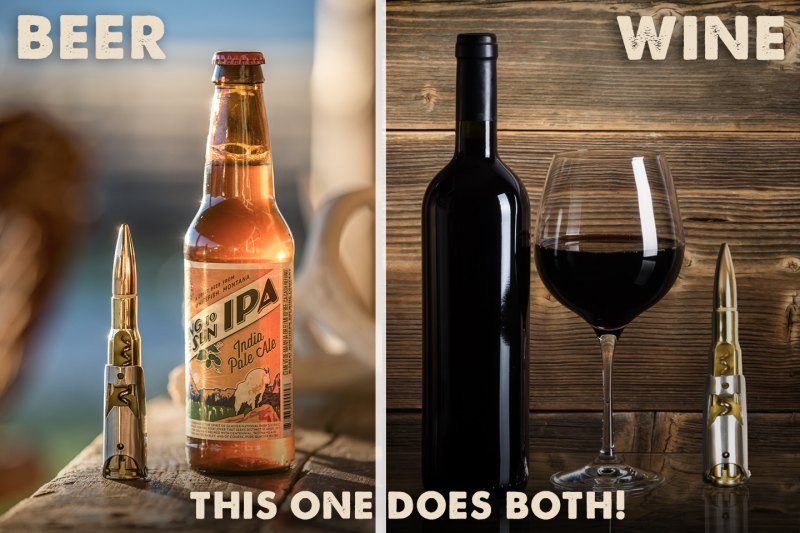bottle opener for beer or wine
