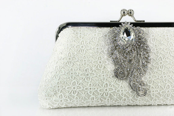 bridal clutch in lace