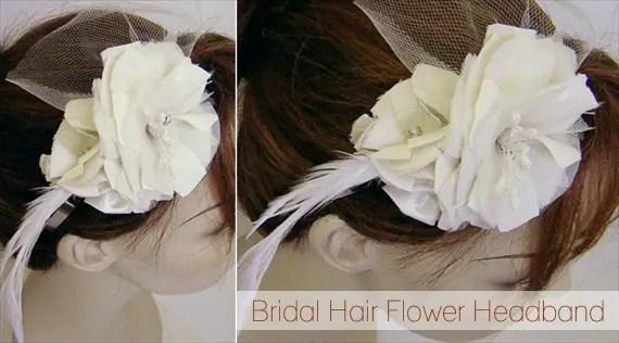 bridal hair flower headband