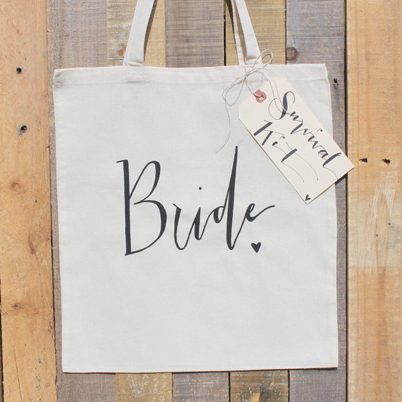 What's Hot in The Marketplace - bride tote bag by dream state