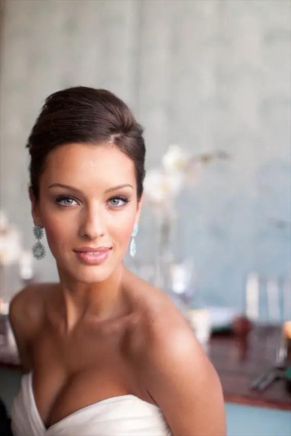 Love This Sleek Wedding Hairstyle: Sleep Updo Wedding Hairstyle Idea