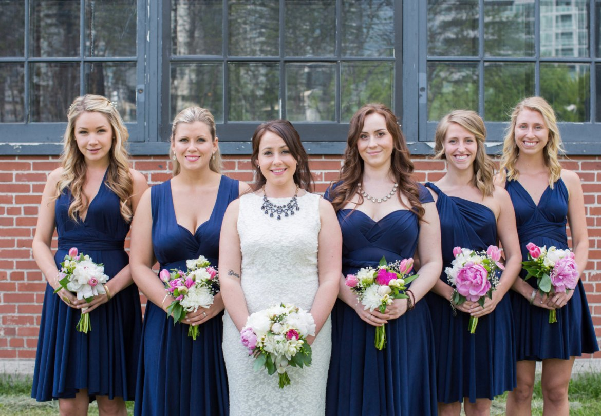 Bridesmaid dress worn different ways ask emmaline blue convertible bridesmaid dress via httpemmalinebridebridesmaids ombrellifo Gallery