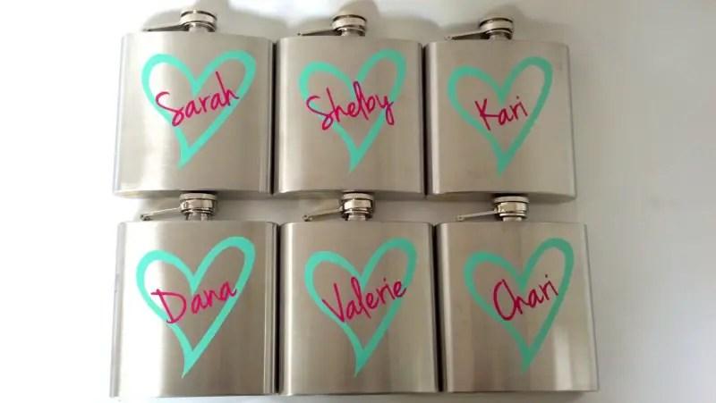 bridesmaid flasks