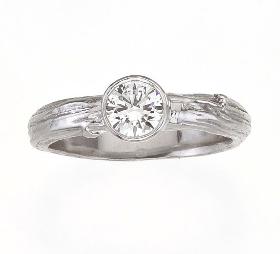 twig engagement rings (by Barbara Michelle Jacobs) via Emmaline Bride