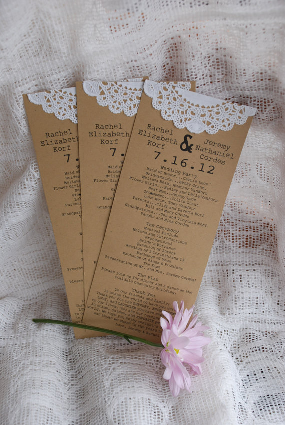 burlap program by postscripts | ceremony accessories weddings http://emmalinebride.com/ceremony/ceremony-accessories-weddings/