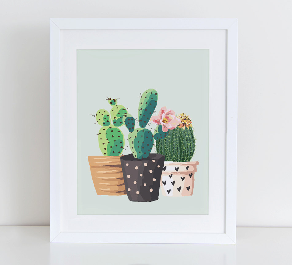 cactus art by DecorartDesign