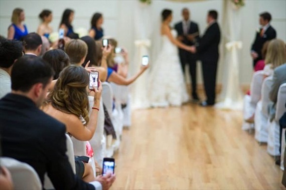 cell phones at weddings unplugged