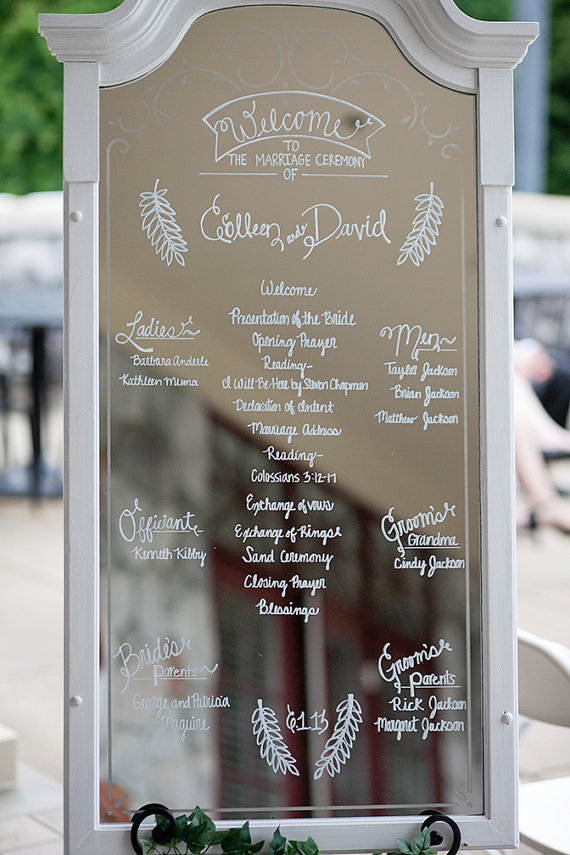 Are Wedding Programs Required? (via EmmalineBride.com) - Wedding Program Alternative by The Lovely Glass Jar