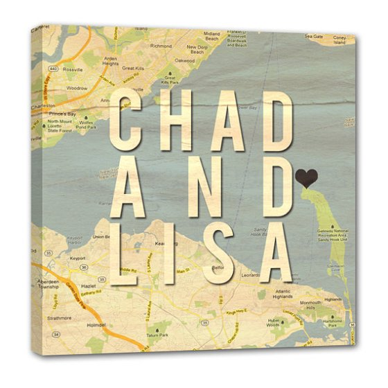 chad and lisa map canvas