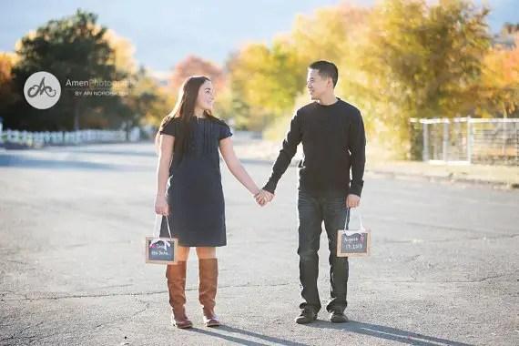 14 Chalkboard Wedding Ideas - chalkboard photo prop signs (by dazzling expressions)