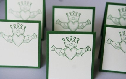 claddagh place cards celtic wedding