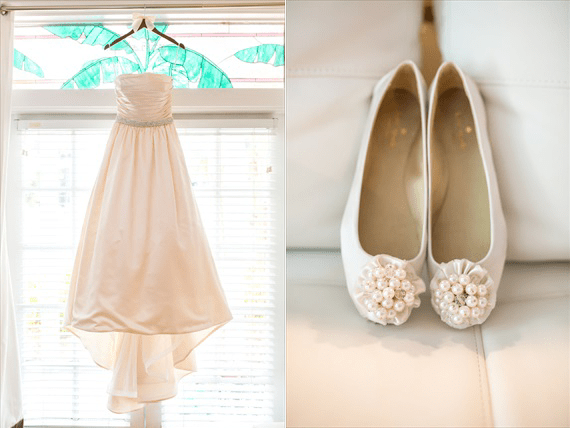Filda Konec Photography - Hemingway House Wedding - bride's wedding dress and shoes