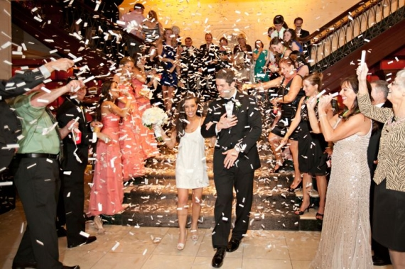 confetti grand exit at wedding