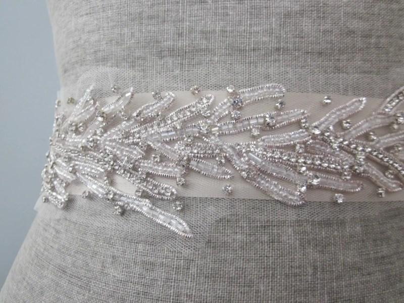 Coral Motif Beach Wedding Dress Sash | Sash Belt for Beach Bride http://emmalinebride.com/planning/beach-wedding-dress-sash/