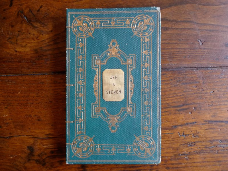 custom vintage guest book